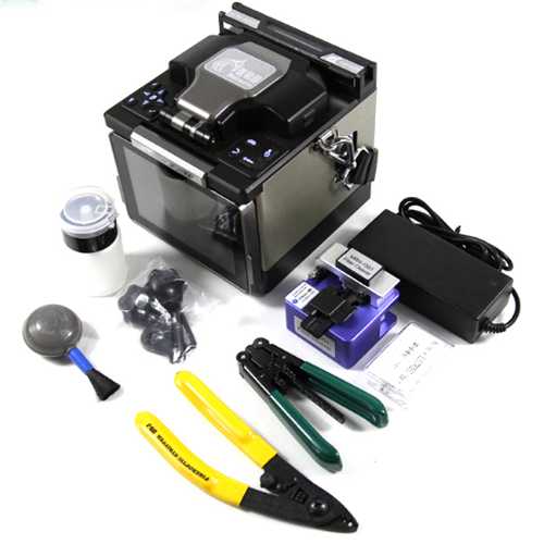 Communication Equipments Cable Fusion Splicer Mfs-t60 With Fiber Cleaver Ftth Sm Mm Fiber Optic Equipments