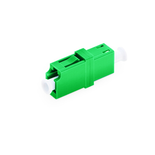 Green color LC APC Singlemode simpex fiber optic adapter