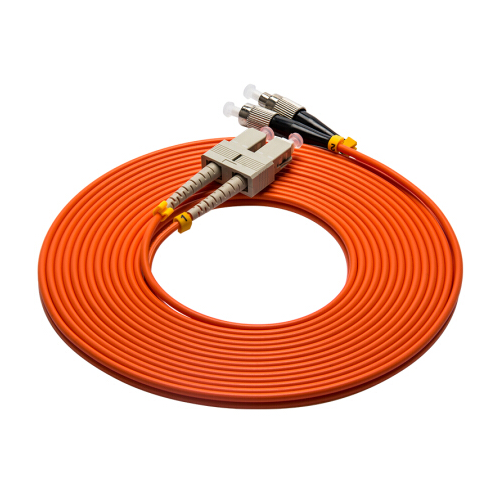 Factory price MM duplex fiber optic patch cord SC-FC