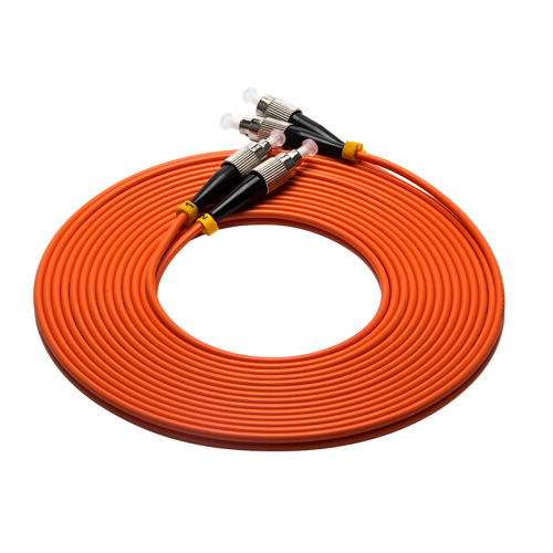 Good Quality and Low Insertion Loss Multimode duplex Fiber Optic Patch Cord FC UPC