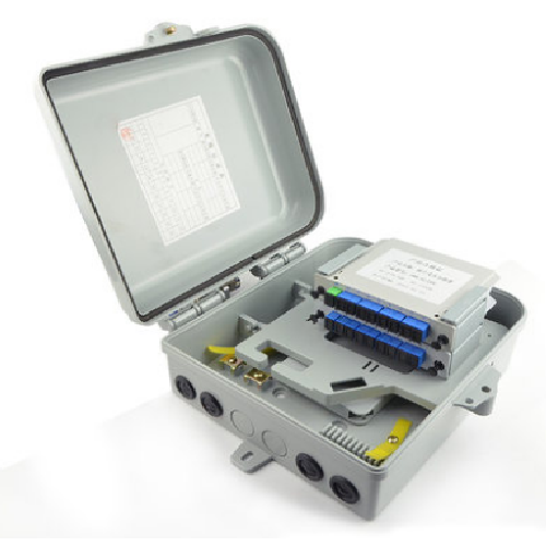 ftth fiber optic distribution box with plc splitter