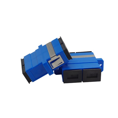 Ceramic Simplex Singlemode Multimode SC to SC Fiber Optic Adapter with Mating Sleeve